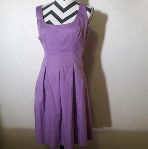 Nine West 12 Vintage Inspired Purple A Line Dress
